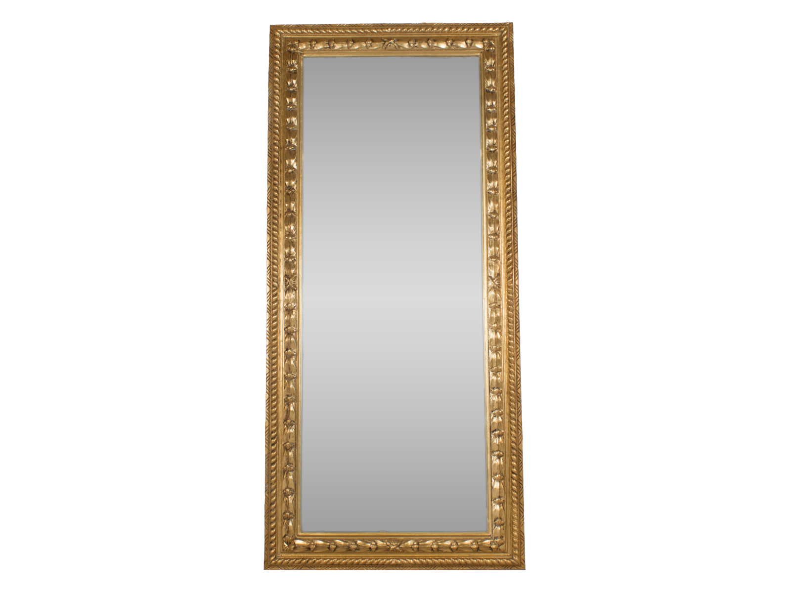 Gold antique style mirror tall hidden mill for Old style mirror