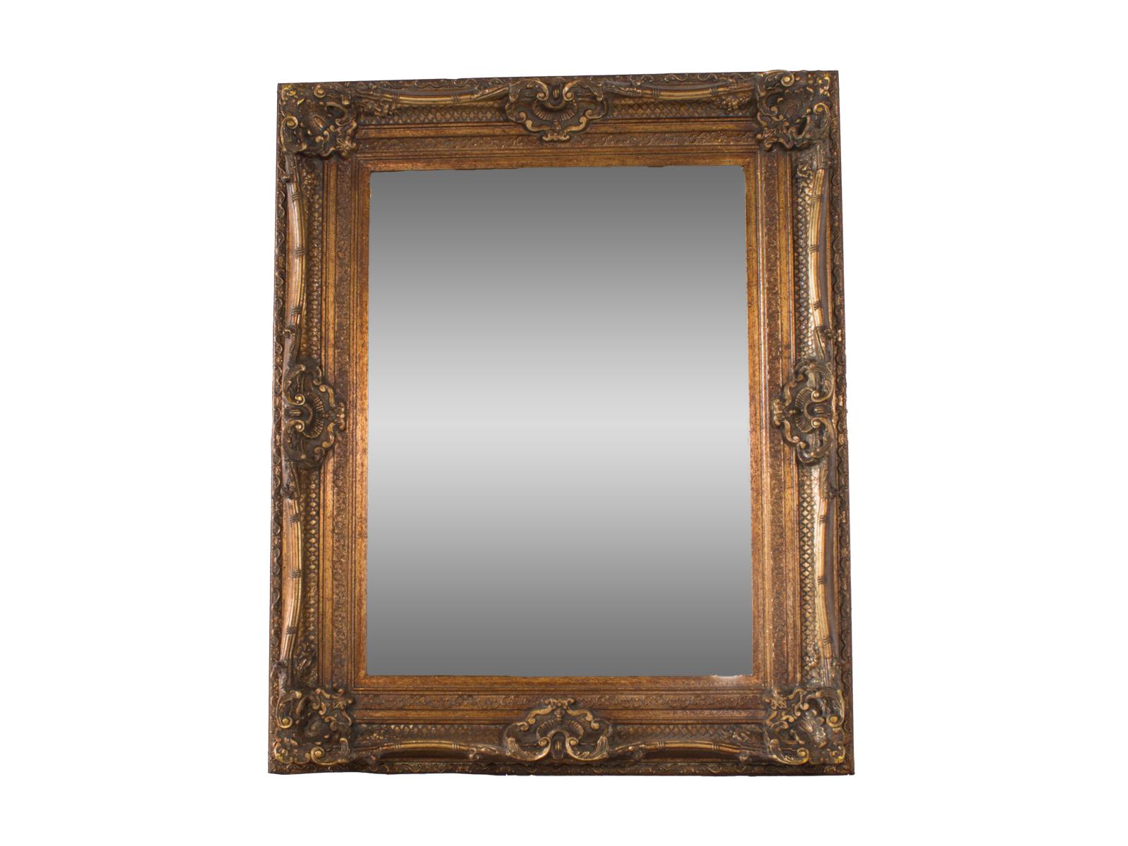 Antique Gold Swept Mirror