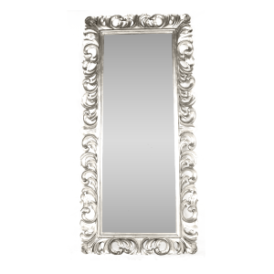 Tall Leaf Mirror Silver