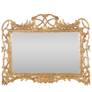 Ornate Overmantel Mirror Gold