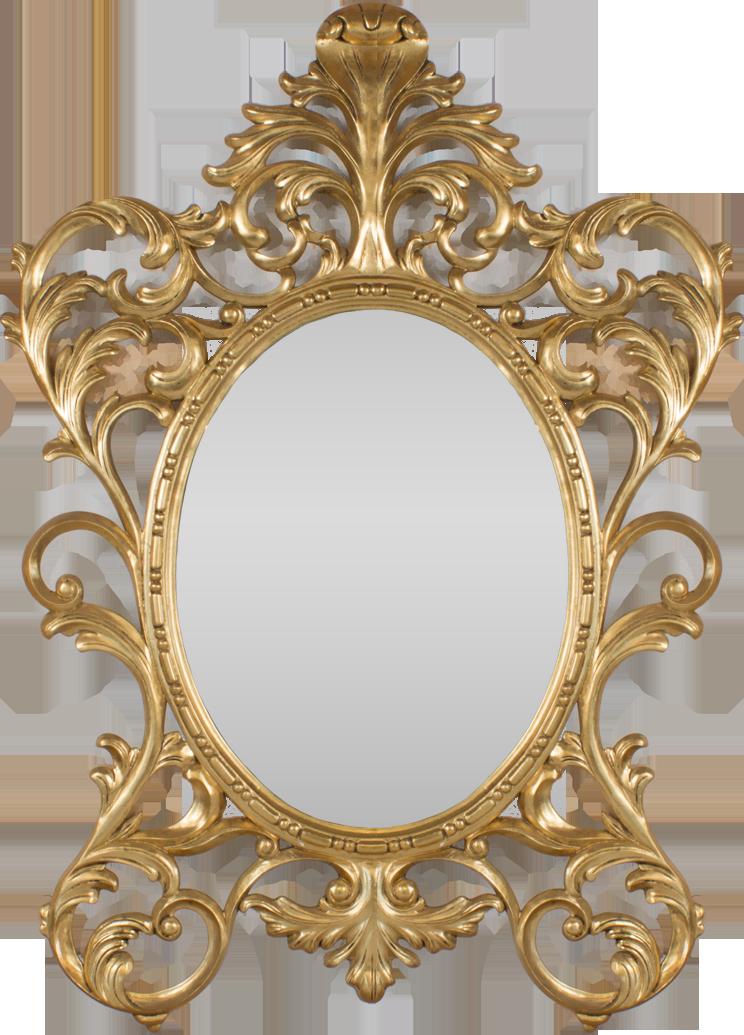 Completely new Gold Oval Baroque Mirror - Hidden Mill KA37