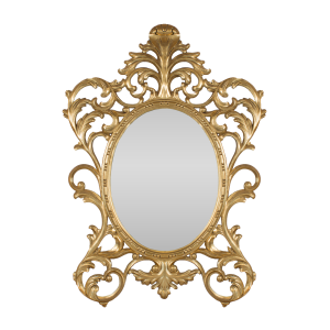Oval Baroque Mirror