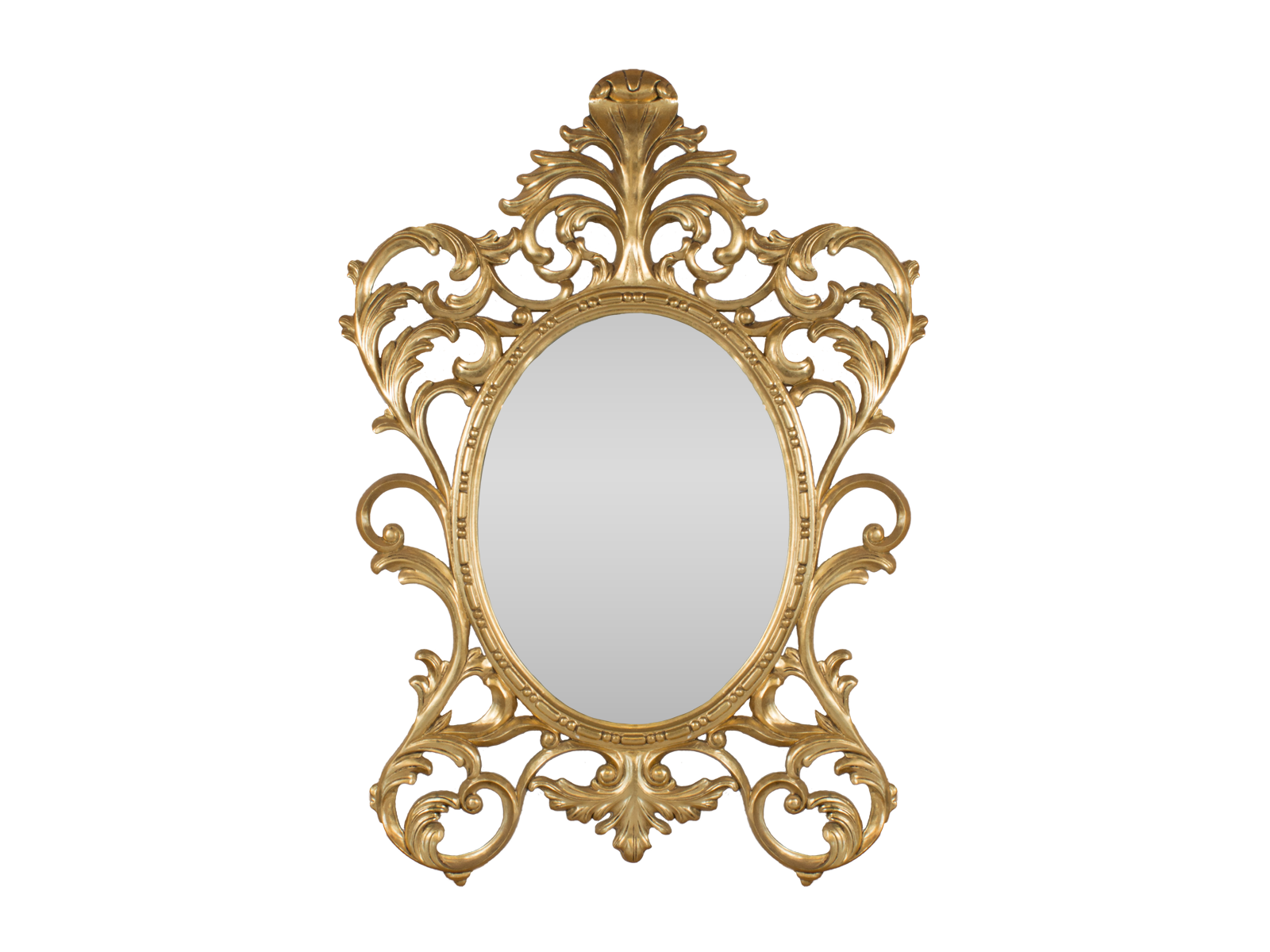 gold oval baroque mirror hidden mill