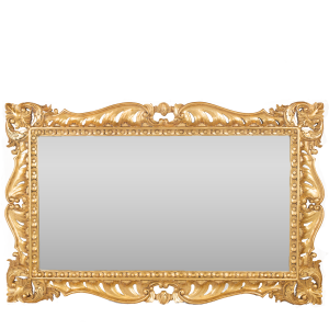 Rectangualr Overmantel Mirror Gold