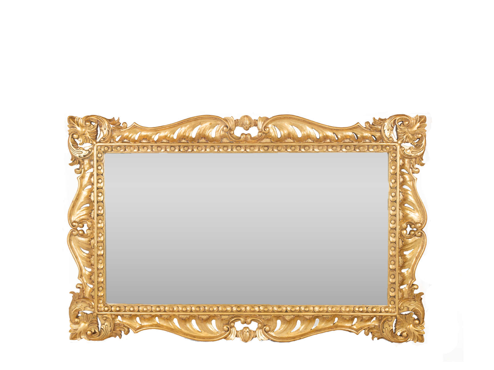 Rectangualr Overmantel Mirror Gold