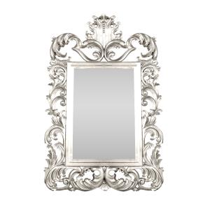 Rococo Mirror Silver
