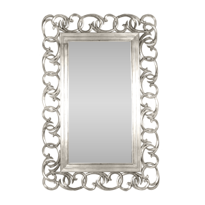Swirl Statement Mirror Silver