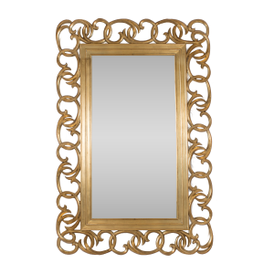 Swirl Statement Mirror Gold