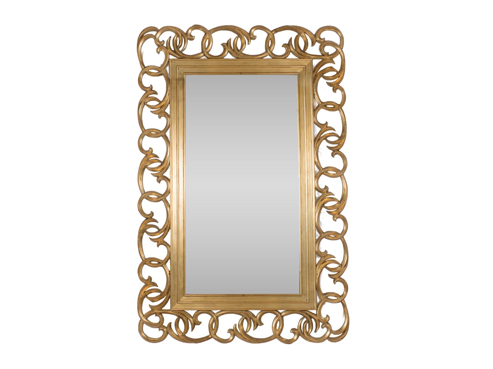 Swirl Statement Mirror Gold