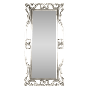 Antique Dressing Mirror Tall Silver
