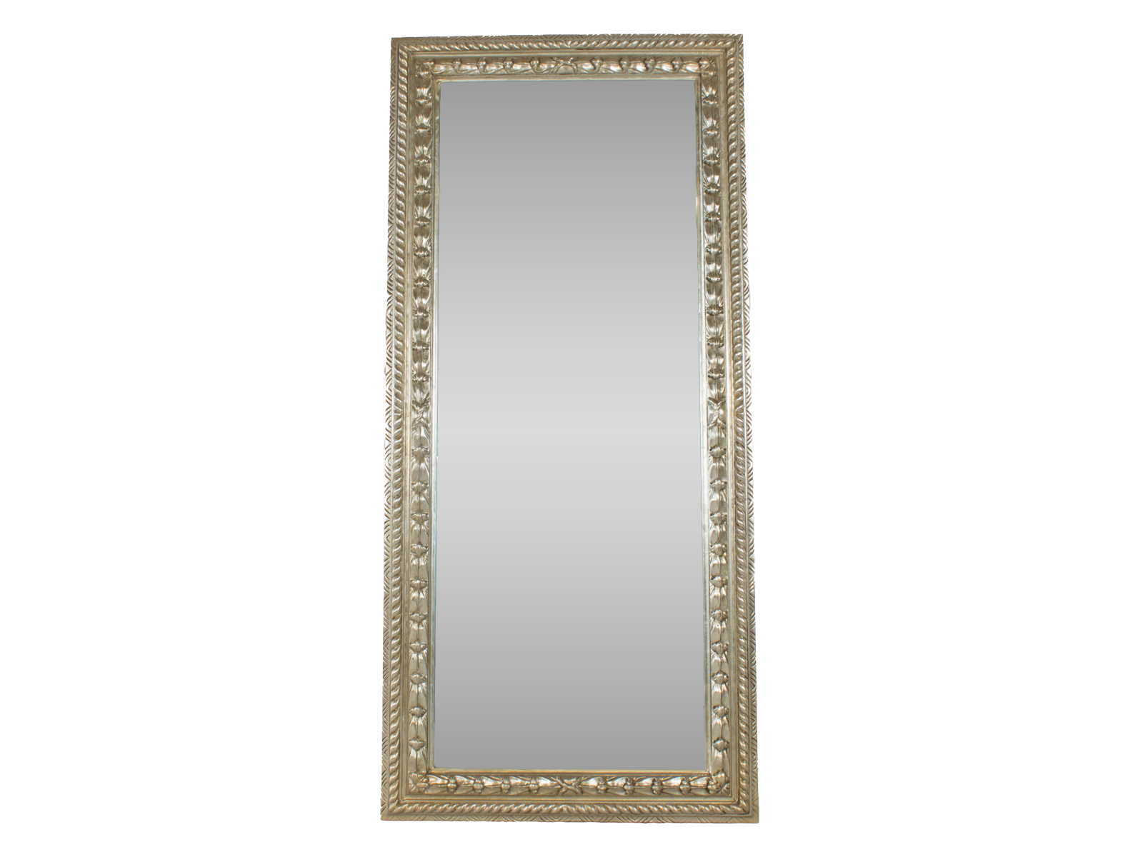 Antique Style Mirror Tall Silver