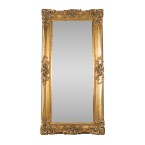 Tall Swept Mirror Gold