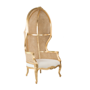 Gold Rattan Porters Chair