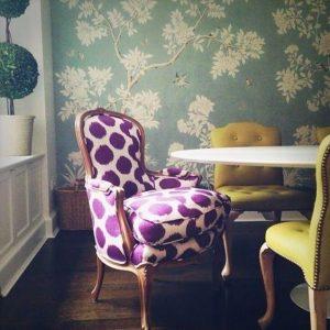 Purple Pattern Chair