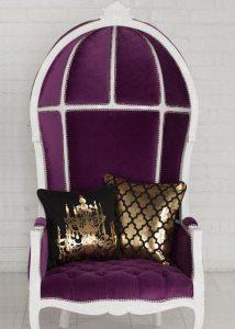 Porters chair purple
